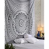 Unico tapis grigio decorativi cotone stampato floreale Trendy Wall Hanging Tapestry Rajrang