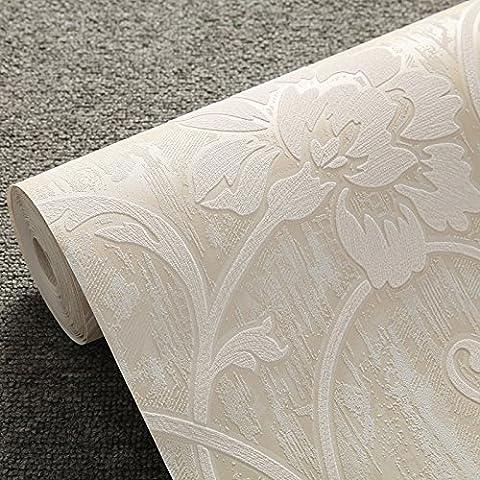ZYONG*Un idilliaco 3D texture in rilievo del panno non tessuto carta da parati camera da letto soggiorno TV parete carta ambientale sfondo m giallo