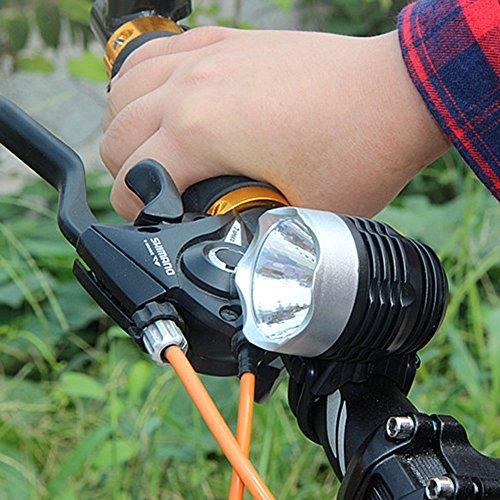 Preisvergleich Produktbild Bike Taschenlampe, happytop 3-Modus 3000Lumen XML Q5Schnittstelle LED Fahrrad Licht Scheinwerfer Scheinwerfer