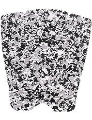 MagiDeal Conjunto de 3pcs Tabla de Surf Pad de Bomba Biselados Accesorios de Deportes Antideslizante - Negro + blanco