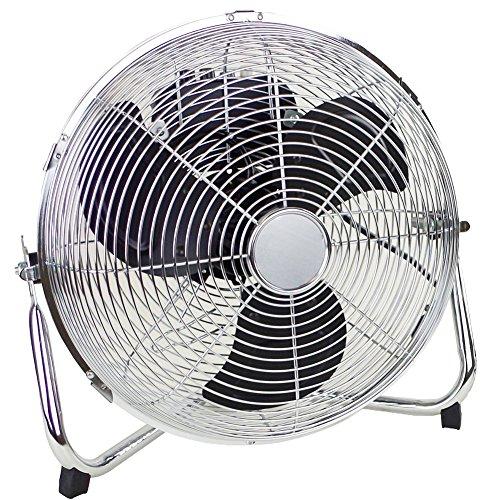 Bakaji Ventilatore Da Terra 55W 30cm 3 Velocita Inclinazione Verticale 3 Pale Colore Nero e Silver