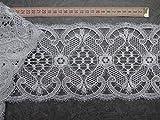 Gardinen Borte Spitze 14cm hoch in weiß Hochglanzgarn