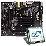 Intel Celeron J1900 / ASRock Q1900M Mainboard Bundle | CSL PC Aufrüstkit | Intel Quad-Core J1900 4x 2000 MHz, Intel HD Graphics, GigLAN, 5.1 Sound, USB 3.1 | Aufrüstset | PC Tuning Kit