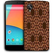 Snoogg abstracto marrón y amarillo funda carcasa de diseño para LG Nexus 5
