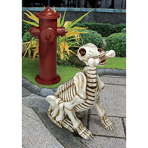 Design Toscano Halloween Statue Fetch das Skelett Hund