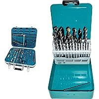 Makita Werkzeug GmbH P-90532 Werkzeug-Set 227-teilig 8 x 160 mm & D-46202 Bohrer Set 18tlg