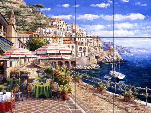 Ceramic Tile Mural - Costiera Amalfitana - da Sam Parco / Soho Editions - splashback Cucina / doccia Bagno