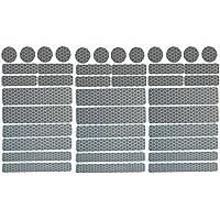 UvV Sticker - Reflektoren 42 Stück Light Reflex Reflektor für Buggy, Kinderwagen, Gehstock, Helm
