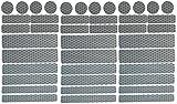 UvV-Reflex Sticker - Reflektoren 42 Stück Light Reflex Reflektor für Buggy, Kinderwagen, Gehstock, Bikes, Helm (Silber)