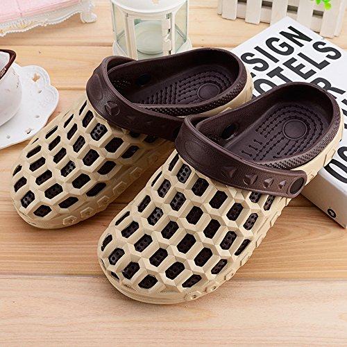 Eastlion EVA Paar Strand Garten Schuhe Sommer Mode Beiläufige halbe Hausschuhe für Liebhaber Männlich Stil 2 Khaki