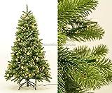 Künstlicher Tannenbaum mit Spritzguss Nadeln, LED Beleuchtung und goldenen Kugeln, 180cm, Narwik deluxe - künstlicher Weichnachtsbaum künstliche Weihnachtsbäume Deko Weihnachts Bäume Tannenbäume Nordmann Tannen Christbäume, geschmückte Weihnachtsbäume </p> --> großes Weichnachtsbaum, Tannengirlanden Weihnachts Deko Sortiment