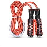 Oziral Springtouw Speed Jump Rope Sport touw springen met herinnering schuimgrepen lengte instelbaar voor vrouwen en mannen f