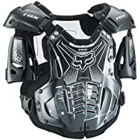 Fox Racing Airframe Men's Roost Deflector MX/Off-Road/Dirt Bike Motorcycle Body Armor - Black / X-Large by Fox Racing