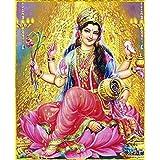 SAMRIDDHI Vinyl Premium Quality Glass Laminated Poster Devi Laxmi For Living Room