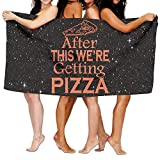 hat pillow After This We're Getting Pizza 100% Polyester Velvet Absorbent Towels 31 X 51 inches