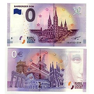 0 Euro Schein Bamberger Dom 2018 - Null Euro Souvenier Banknote mit verschiedenen Sehenswürdigkeiten
