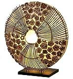 Guru-Shop Tischlampe/Tischleuchte Olivea - in Bali Handgemacht aus Naturmaterial, Rattan, 40x35x20 cm, Dekolampe Stimmungsleuchte