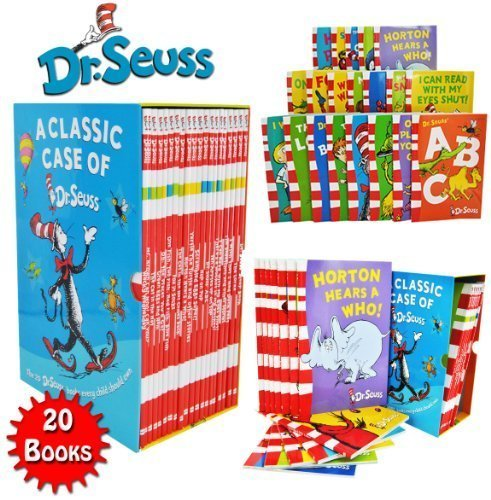 Dr Seuss Classic 20 Books Gift Set (Kids Wonderful World Read at Home Collection) Titles include - The Cat in the Hat, Green Eggs and Ham, Oh The Places you'll Go, One Fish Two Fish Red Fish Blue Fish, Hop on Pop, Dr. Seuss ABC, Ten Apples Up On Top and More.