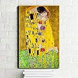 sanzangtang Berühmte Menschen malerei Kuss leinwand malerei Druck auf leinwand wandbild Wohnzimmer Dekoration rahmenlose 30x45 cm