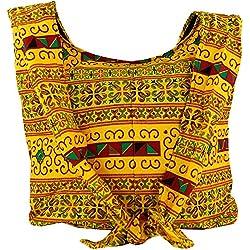 Guru-Shop Sadhu Bolsa, la Bolsa de Hombro, Bolso Hippie Chiang Mai - Amarillo, Unisex - Adultos, Algodón, Tamaño:One Size, 30x42 cm, Sadhu Bolsa, la Bolsa Hippie