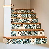32 (Piezas) Adhesivo para azulejos 15x15 cm - PS00098 - Safi - Adhesivo decorativo para azulejos para baño y cocina - Stickers azulejos - Collage de azulejos