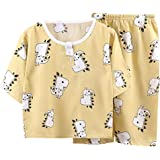 DEBAIJIA Niños Pijama 0-8T Bebé Ropa de Dormir Infantil Homewear Niña Ropa Casual Niño Animado Lindo Algodón Verano Conjuntos