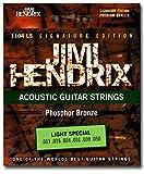 Phosphor Bronze Light Special Saiten Satz für Westerngitarre 011-050 - Premium Qualität - Signature Edition Jimi Hendrix 1104LS für Akustikgitarre (Light)