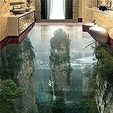 Wapel Tapete Tragen Dicker Pvc Wand Aufkleber Welt Fairyland Peak Cliff Wohnzimmer Badezimmer 3D Bodenfliesen Malerei 200Cmx 140Cm