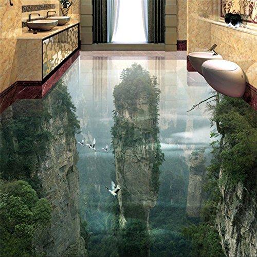 Wapel Tapete Tragen Dicker Pvc Wand Aufkleber Welt Fairyland Peak Cliff Wohnzimmer Badezimmer 3D Bodenfliesen Malerei 430 Cmx 300Cm