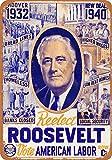 1940re-elect Roosevelt reproducción de aspecto Vintage Metal Sign