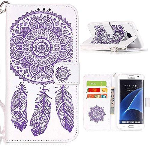 Coque iPhone 6, Linvei® Coque iPhone 6 /6s Housse Etui Cuir Coque avec TPU Silicone pour iPhone 6 - Rose Violet