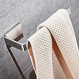 Velimax Toallero de aro SUS 304 acero inoxidable toallero de anilla montaje en pared acabado cepillado estilo moderno