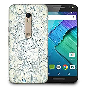 Snoogg floral hand drawn background Designer Protective Back Case Cover For Motorola Moto X Style