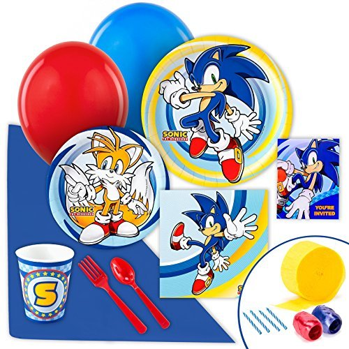 Sonic the Hedgehog Party Supplies - Value Party Pack by BirthdayExpress (Party Supplies Sonic Birthday)