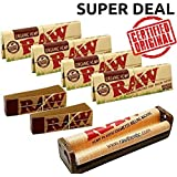 OutonTrip Raw Single Wide Deal - Single Wide Organic Rolling Papers, 79mm Rolling Machine And Filter Tips - INCLUDES - OutonTrip Paper Astray Box ((raw Paper King Size With Roach/ Ocb Rolling Paper With Roach/ Rolling Paper King Size/ Smoking Paper Combo)