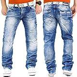 Cipo & Baxx Herren Jeans Mens Pants Freizeit-hose Clubwear Designer Style Top W32/L36