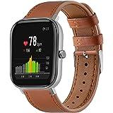 Classicase compatibel met Garmin Venu/Venu SQ/Venu Sq Music/Approach S40 / Vivomove HR Sport Watch Strap, Top Leather Band Re