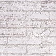 Amazon Fr Papier Peint Brique Gris