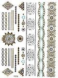 gold tattoo flash tattoos haut tattoos orientalischer k rperschmuck gyptische ornamente. Black Bedroom Furniture Sets. Home Design Ideas