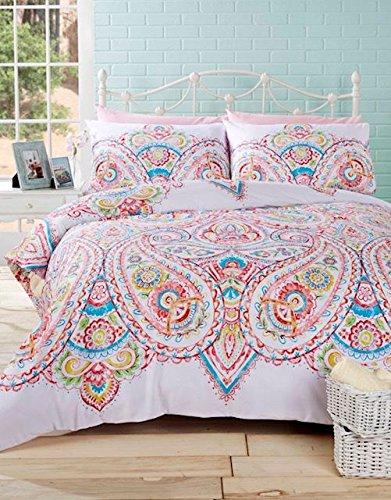 Homespace Direct Soha Paisley Bright King Bettdecke duver Bettwäsche-Set Farbe Einzigartige Muster Design -