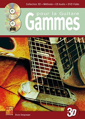 Gammes pour la guitare en 3D (1 Livre + 1 CD + 1 DVD)