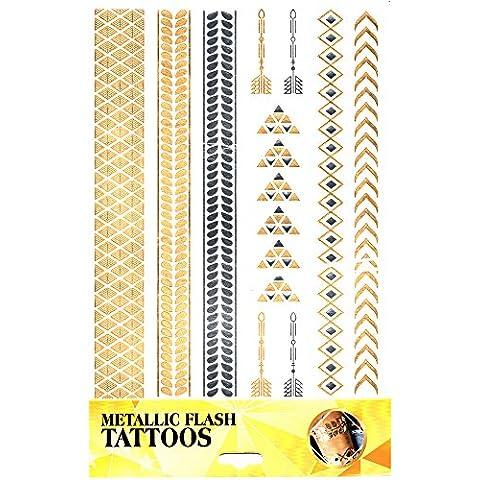 Koerpertattoo Adhesivo Tatuaje Piel Decoración Pulsera Banda De Tobillo Joya De Moda Carnaval Revestimiento Motivo 11