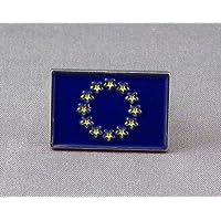 Spilla di metallo, motivo: bandiera dell'Europa EUROPEA