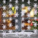 3 Meter Schneeflocke Hanging Dekorationen für Weihnachten Party Urlaub Neujahr Dekoration Weiß, 36 Stück