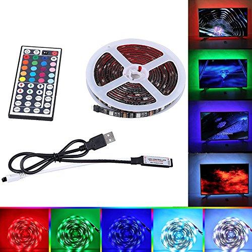 TV LED Beleuchtung Backlight Forepin® USB LED TV Hintergrundbeleuchtung mit 44 Tasten IR Fernbedienung RGB SMD 5050 IP65 LED Dekor Streifen für Zuhause Theater Dekoration, 3M