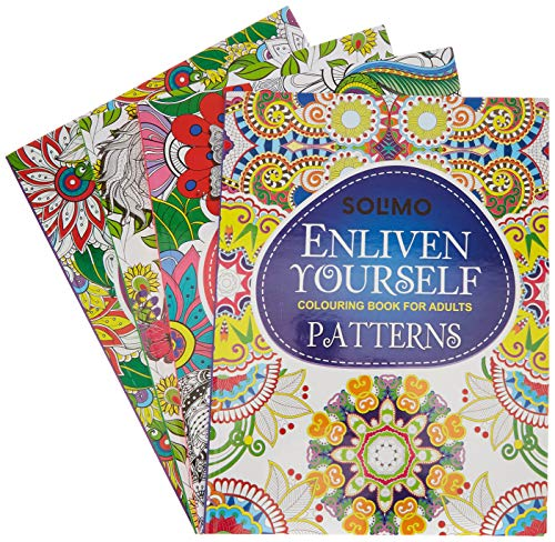 Amazon Brand - Solimo Enliven Yourself Colouring Books (Set of 4)