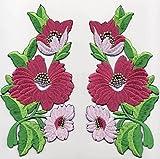 Iron on Bügel Aufnäher Patches Flicken Sticker Aufbügler Bügelbilder Applikation Kleidung Stoff Textilien Blumen zum aufbügeln