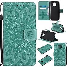 GR Custodia protettiva in pelle PU design per Motorola Moto G5s Flip Wallet. Custodia protettiva con slot per schede / supporto ( Color : Green )
