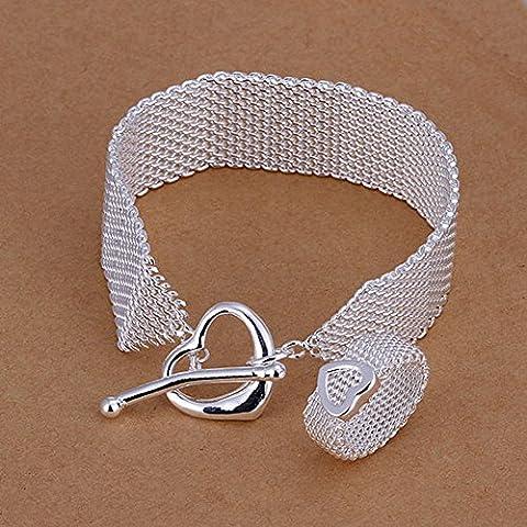 Saysure–925Bijoux en argent sterling, 925Bague + Bracelet Ensemble de bijoux,