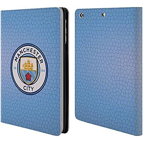 Ufficiale Manchester City Man City FC Blu mattonella mosaico colore Badge Pixel Cover a portafoglio in pelle per Apple iPad mini 1 / 2 / 3